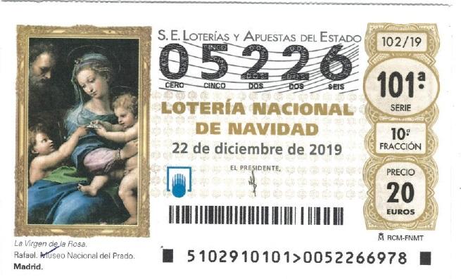 LOTERIA DE NAVIDAD POMER 2019