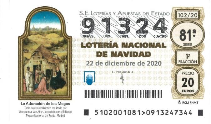 LOTERÍA DE NAVIDAD POMER 2020